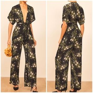 New Reformation Lemongrass Anastasia Jumpsuit 8